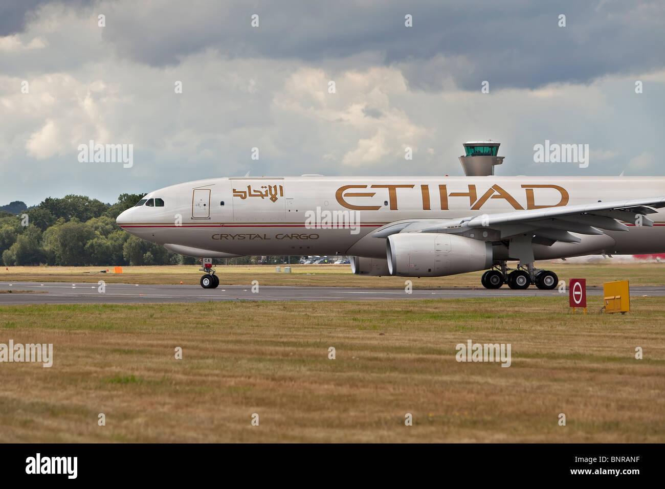 Etihad airways airplane - Stock Image