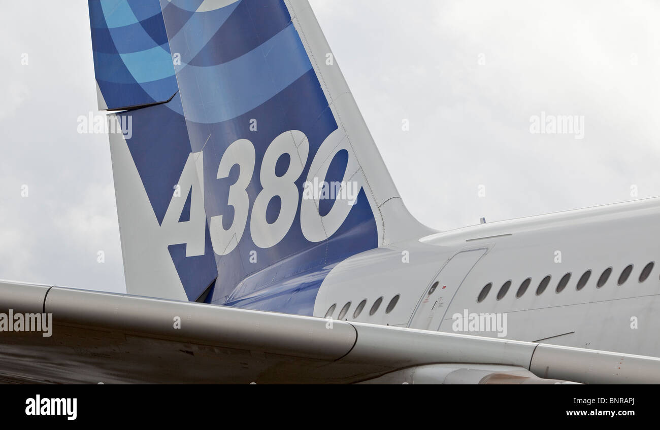 A380 airbus fin - Stock Image
