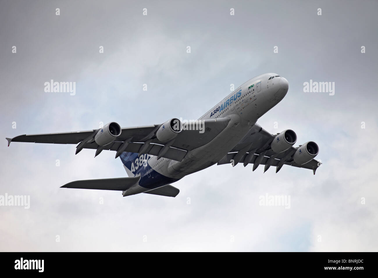 Farnborough Airbus A380 - Stock Image