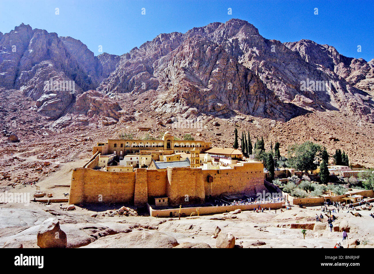 The Monastery of Saint Catherine the smallest and oldest diocese in the world - Stock Image