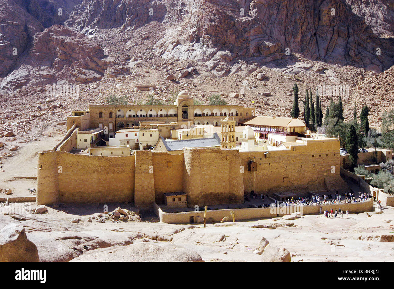 The smallest and oldest diocese in the world, Saint Catherine's monastery, Sinai. Stock Photo