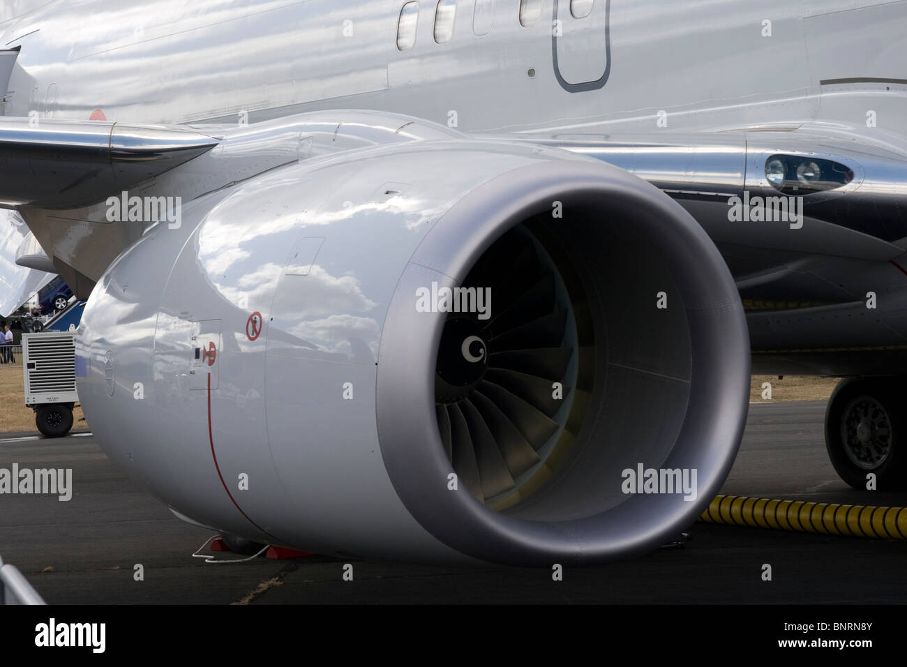 CFM56 high bypass turbofan engine fitted to Boeing 737 at