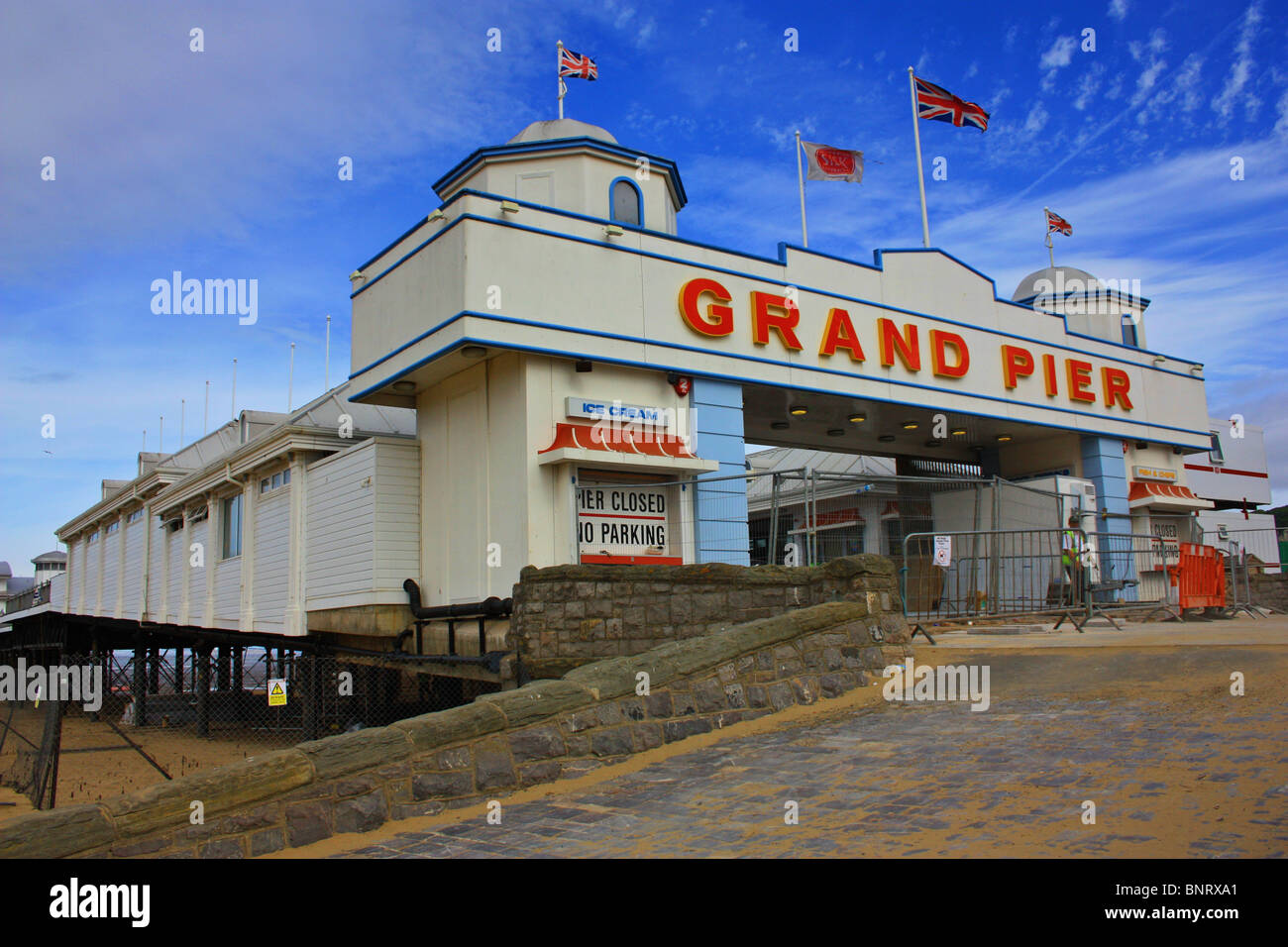 Grand Pier at weston super mare is under reconstruction. - Stock Image