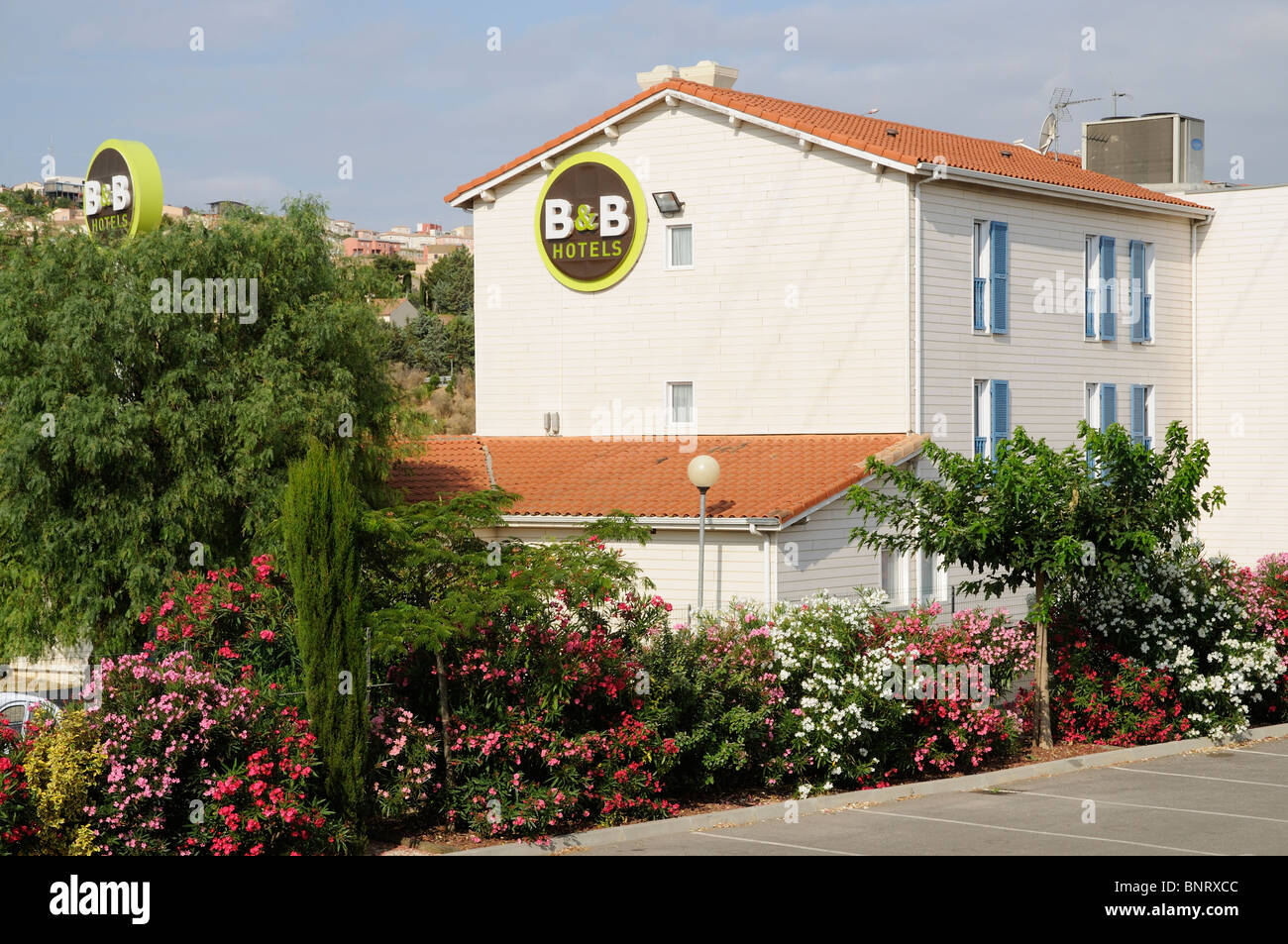 B&B Hotels group property cheap hotel rooms in France - Stock Image