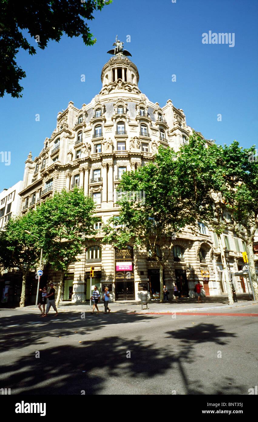 Edifici 'La Unión y el Fénix Español' by Eusebi Bona i Puig at Passeig de Gràcia in - Stock Image