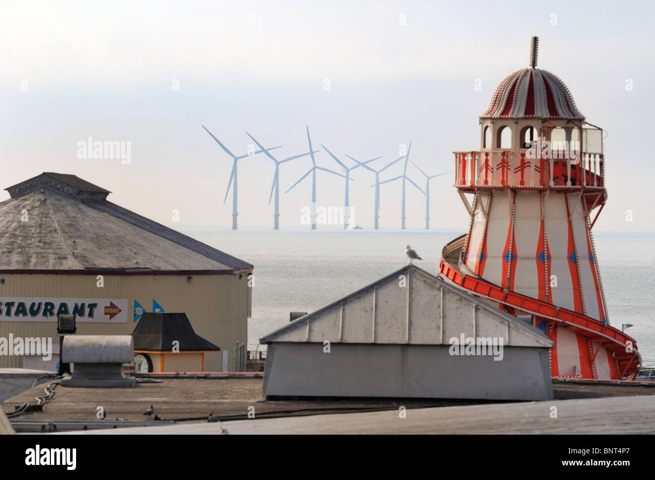 Gunfleet sands wind farm,Clacton Essex - Stock Image