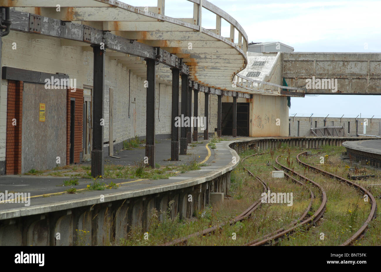 Former Folkestone harbour station - Stock Image