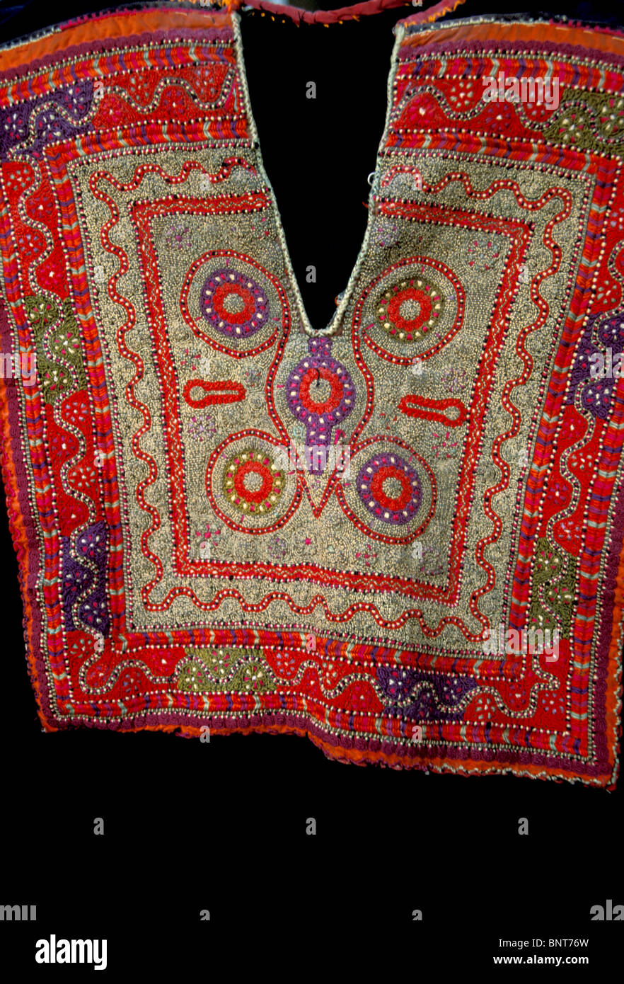 Old Bethlehem Folklore Museum of the Arab Women Union. Traditional Palestinian embroidery - Stock Image