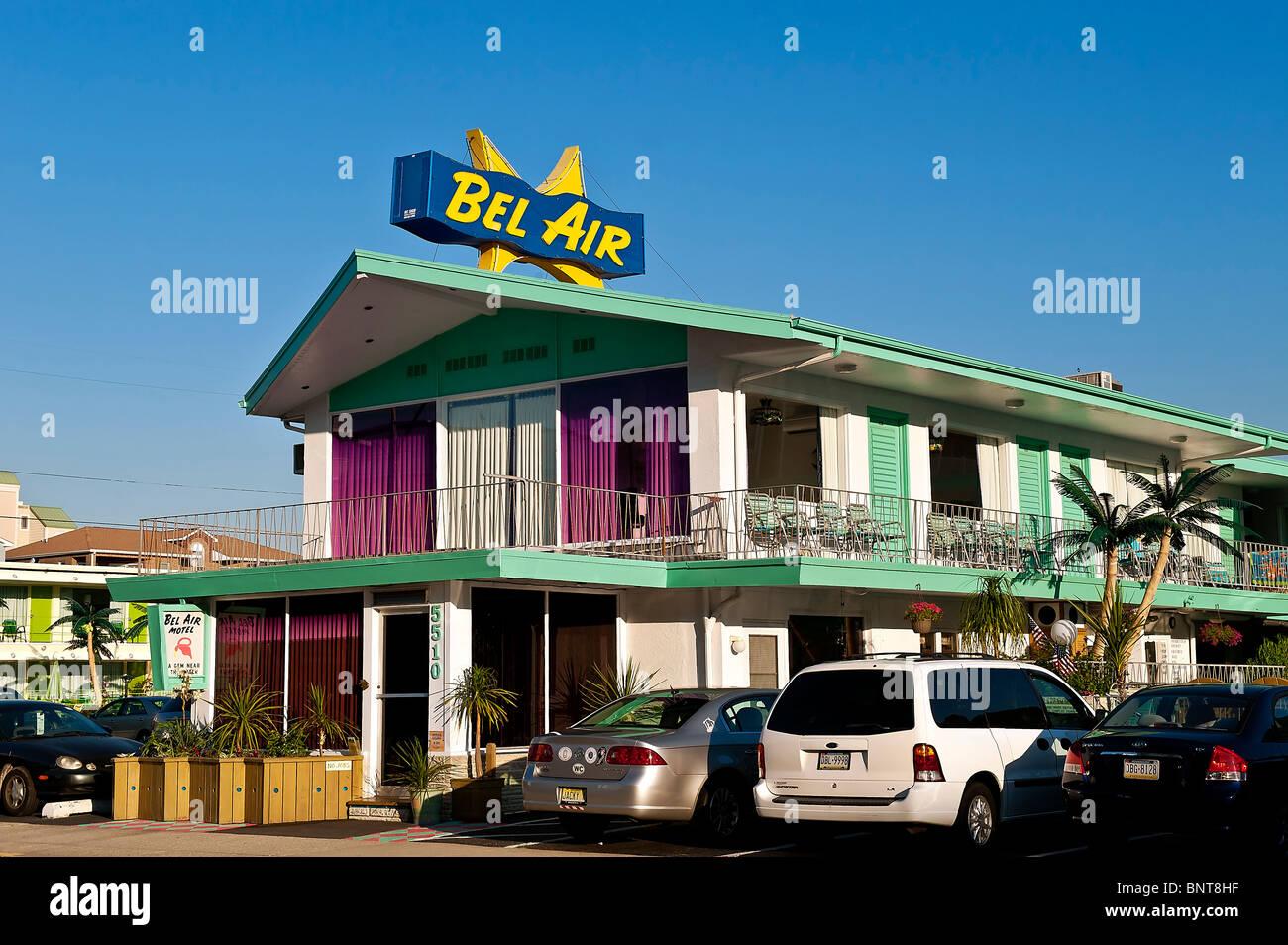 Bel Air Motel, Wildwood, New Jersey, USA - Stock Image