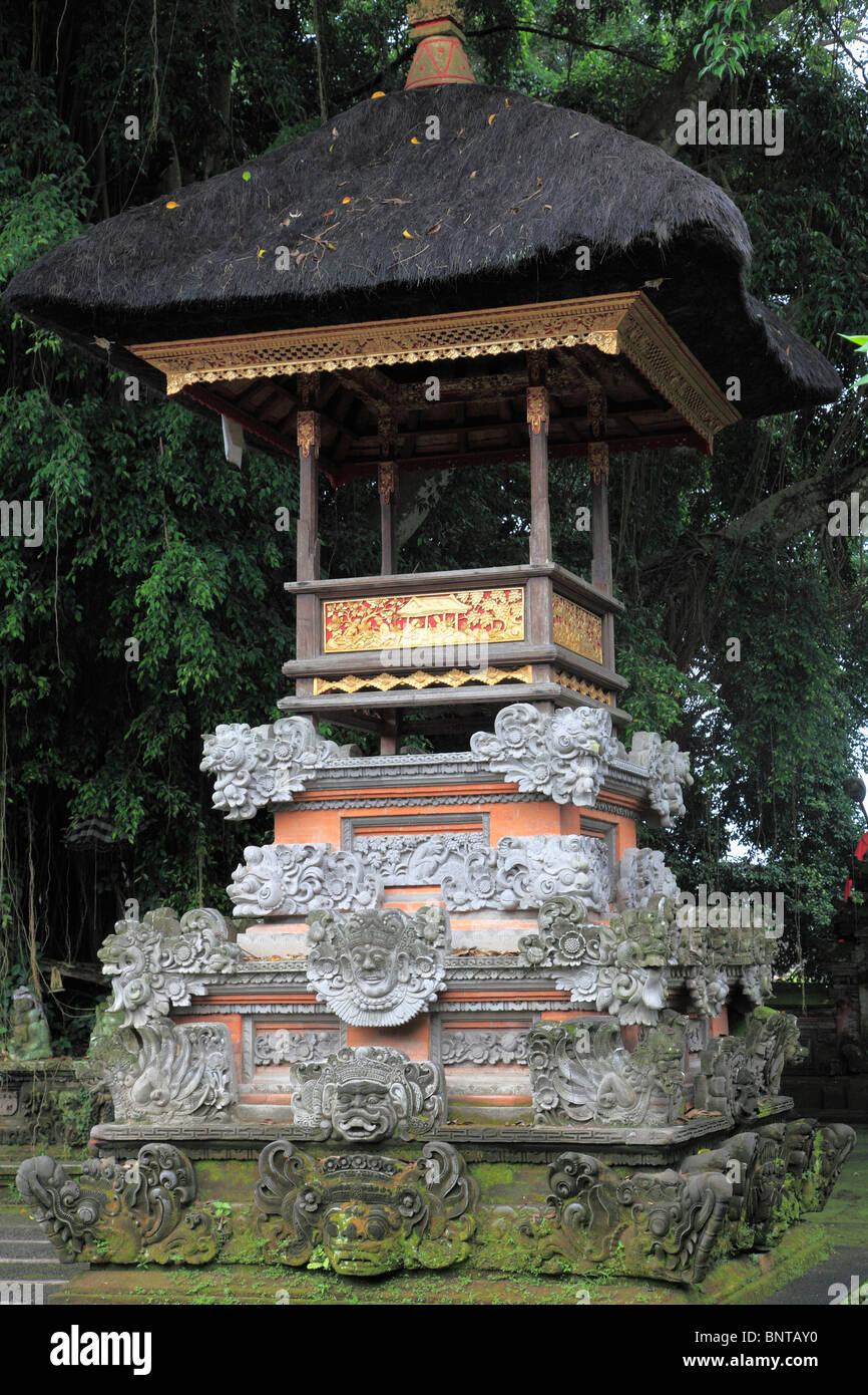 Indonesia, Bali, Ubud, temple pavilion, religious architecture, - Stock Image