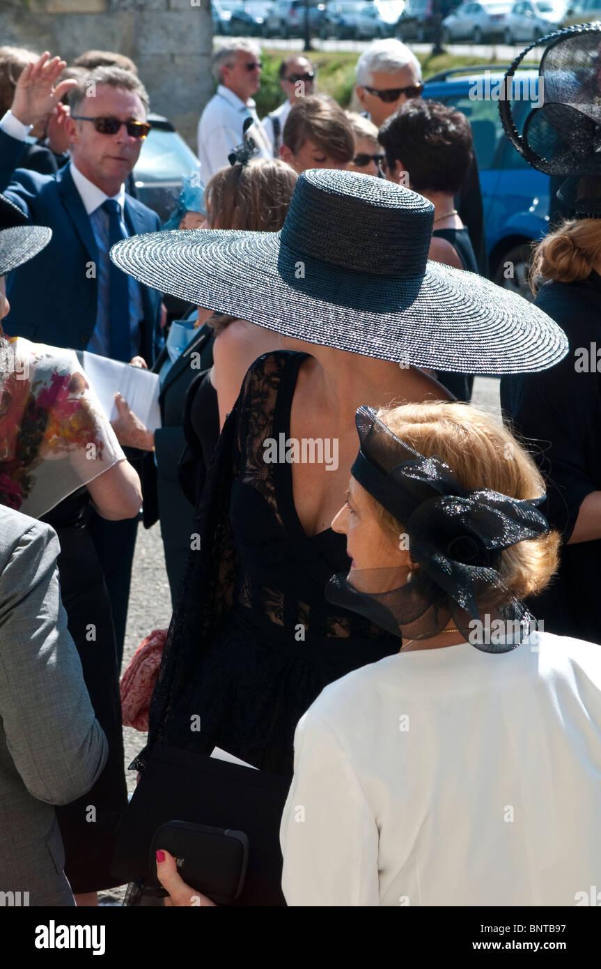 Woman Big Black Hat Stock Photos   Woman Big Black Hat Stock Images ... 02ec3cb96d3