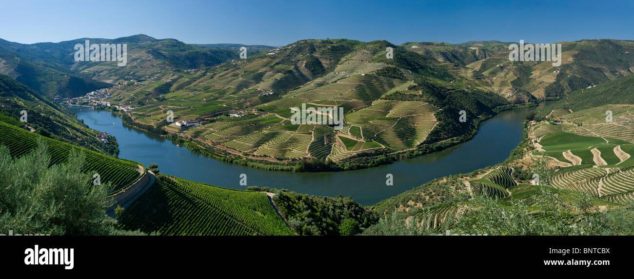 Portugal, the Alto Douro , the Douro river at Pinhao - Stock Image