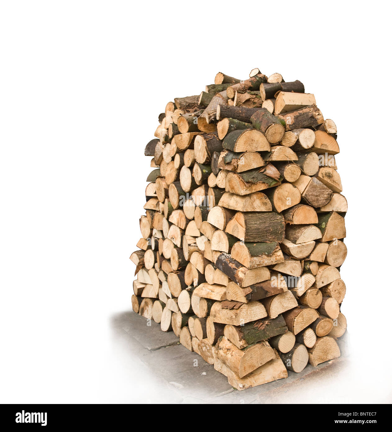 stack of logs for firewood - Stock Image