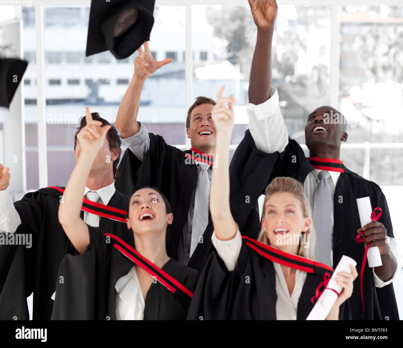 Group of people Graduating from College - Stock Image
