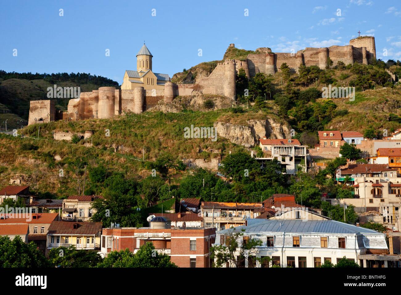 Narikala Castle in Tbilisi Georgia Stock Photo