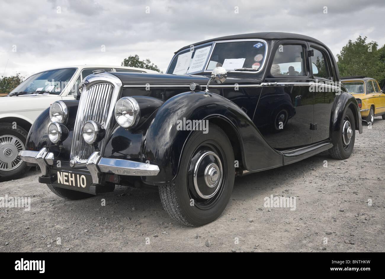 Riley RMA motor car at a veteran car rally in Yorkshire - Stock Image