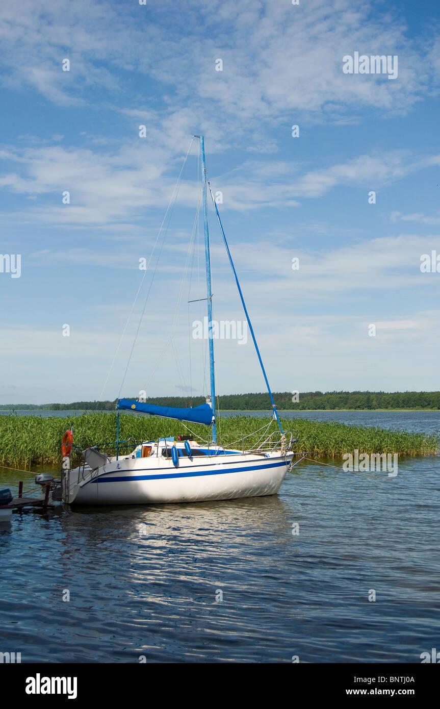 yacht on Mazury - Stock Image