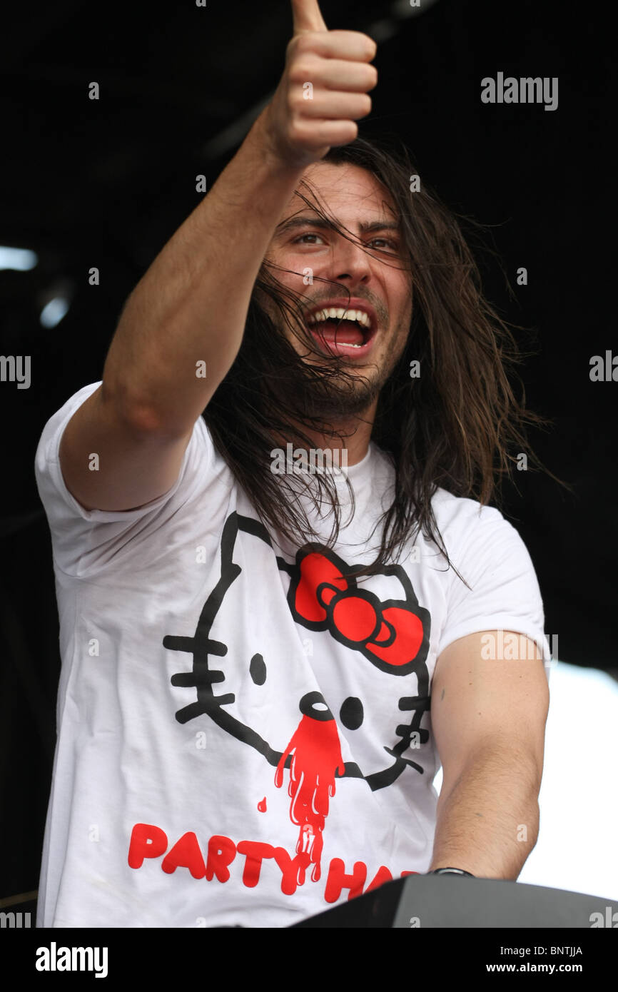 Andrew WK @ 2010 Vans Warped Tour - Stock Image