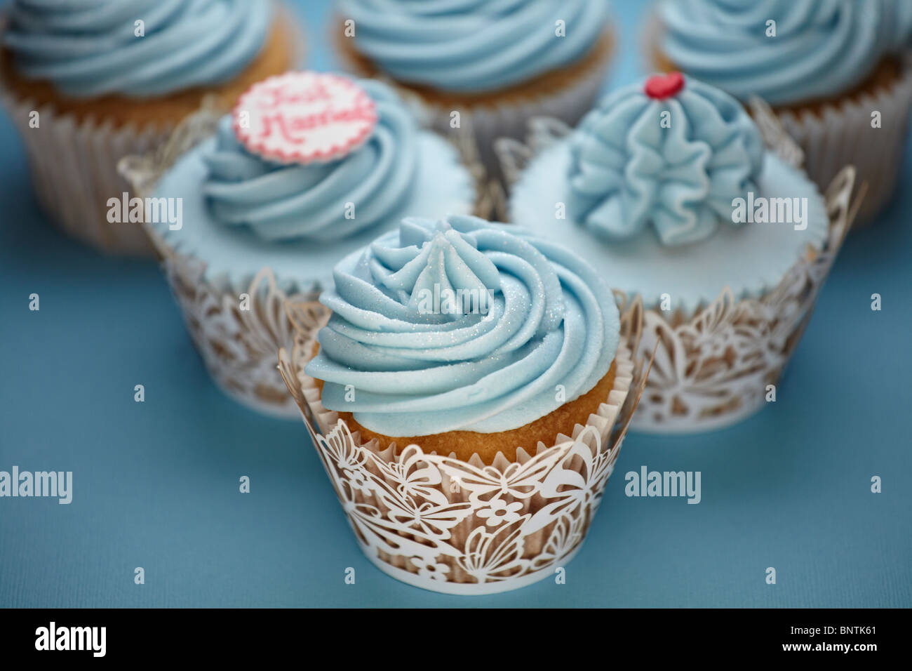 Cupcakes arranged for a party or a wedding reception Stock Photo ...