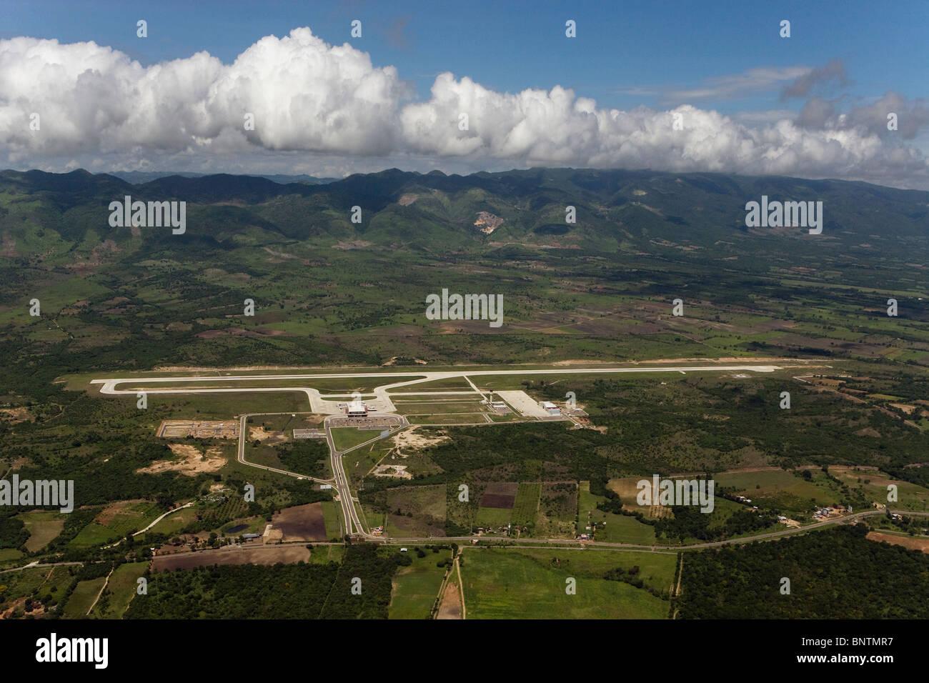 aerial view above Tuxtla Gutierrez airport Chiapas Mexico - Stock Image