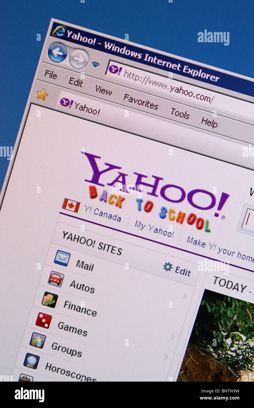 yahoo online internet search engine - Stock Image