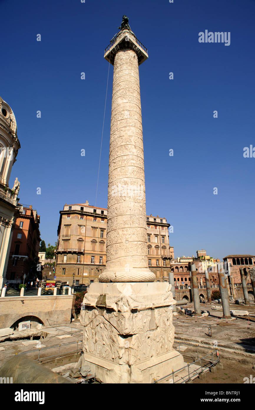 italy, rome, trajan's column - Stock Image