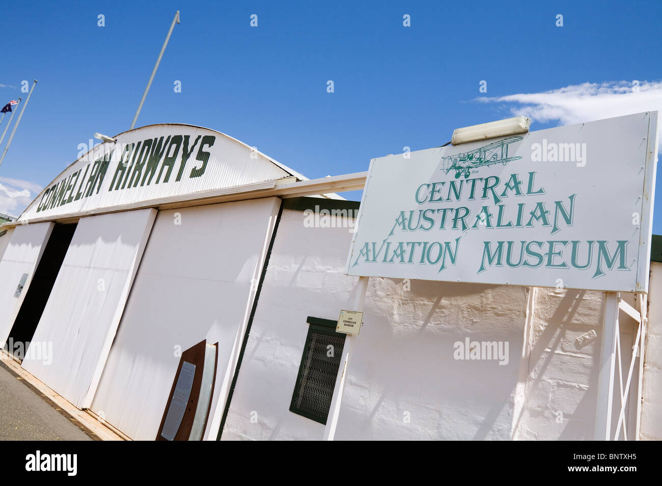 Central Australian Aviation Museum. Alice Springs, Northern Territory, AUSTRALIA. - Stock Image