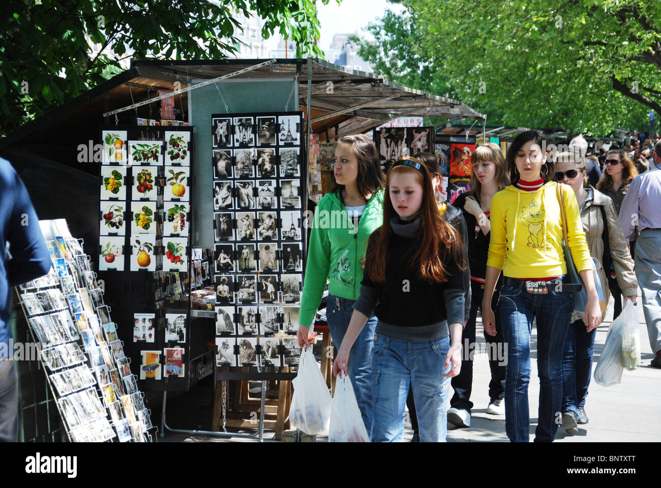 postcards for sale Paris France Stock Photo