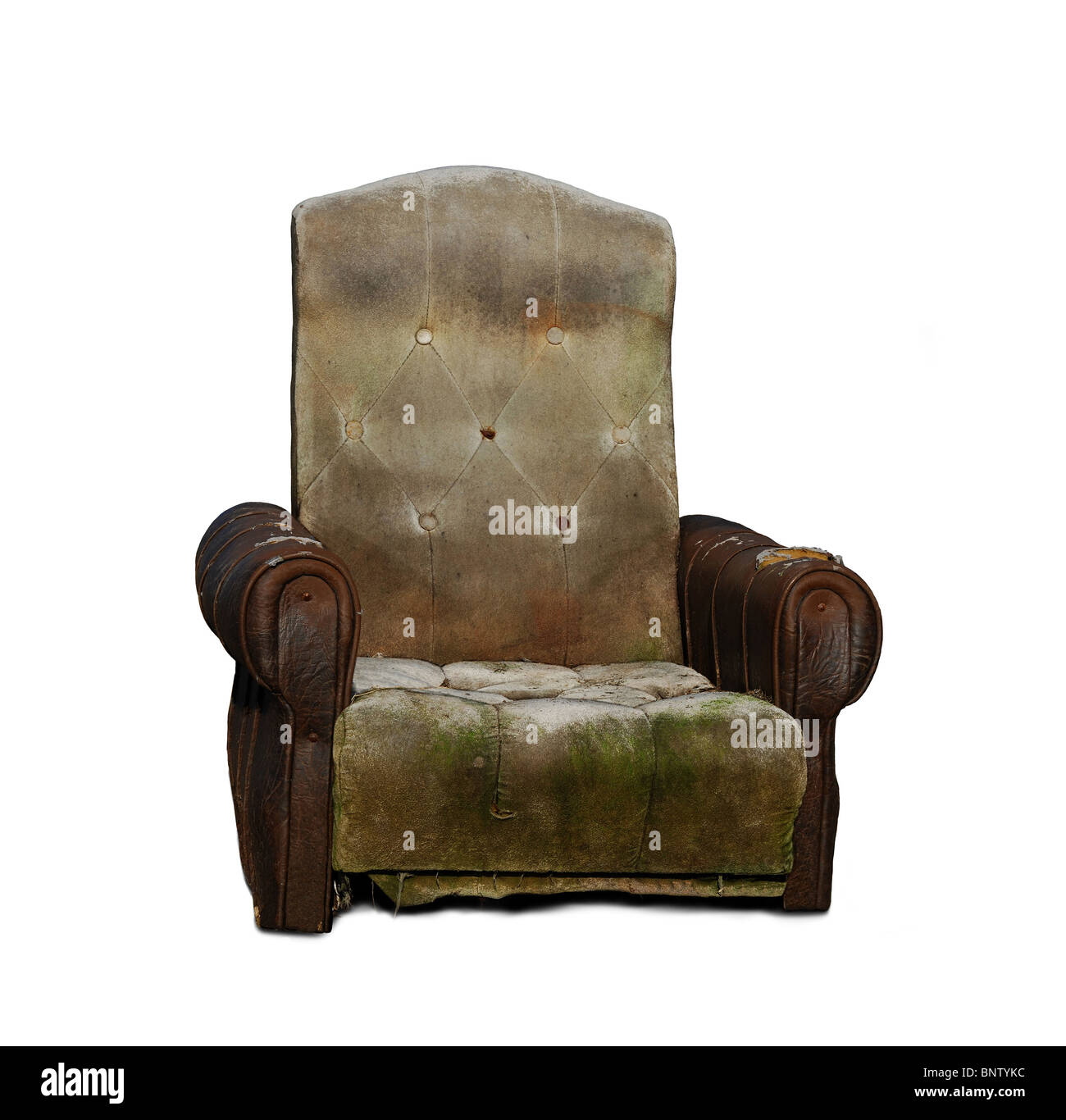Old trash armchair - Stock Image