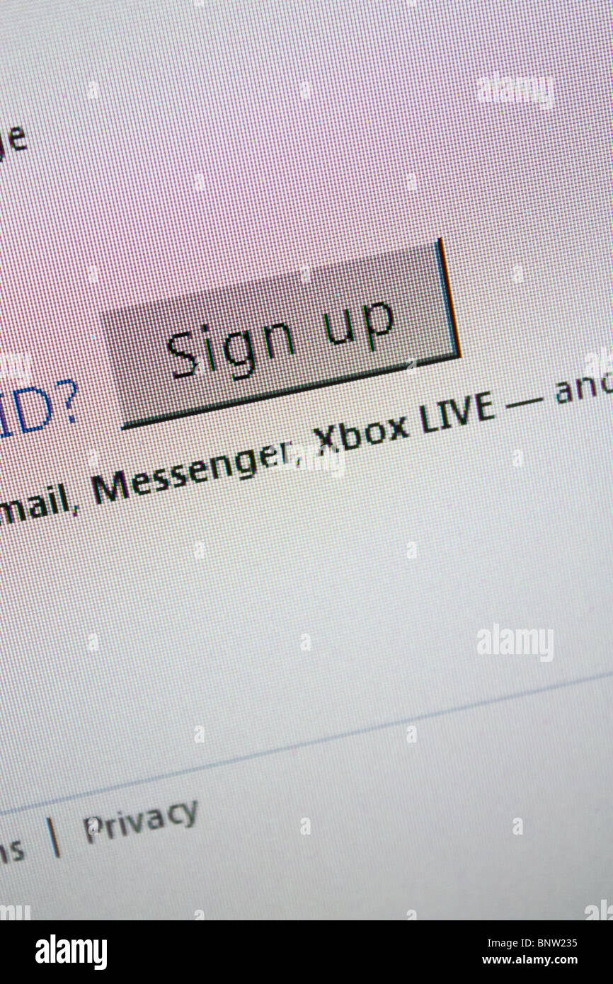 windows live id signup icon - Stock Image