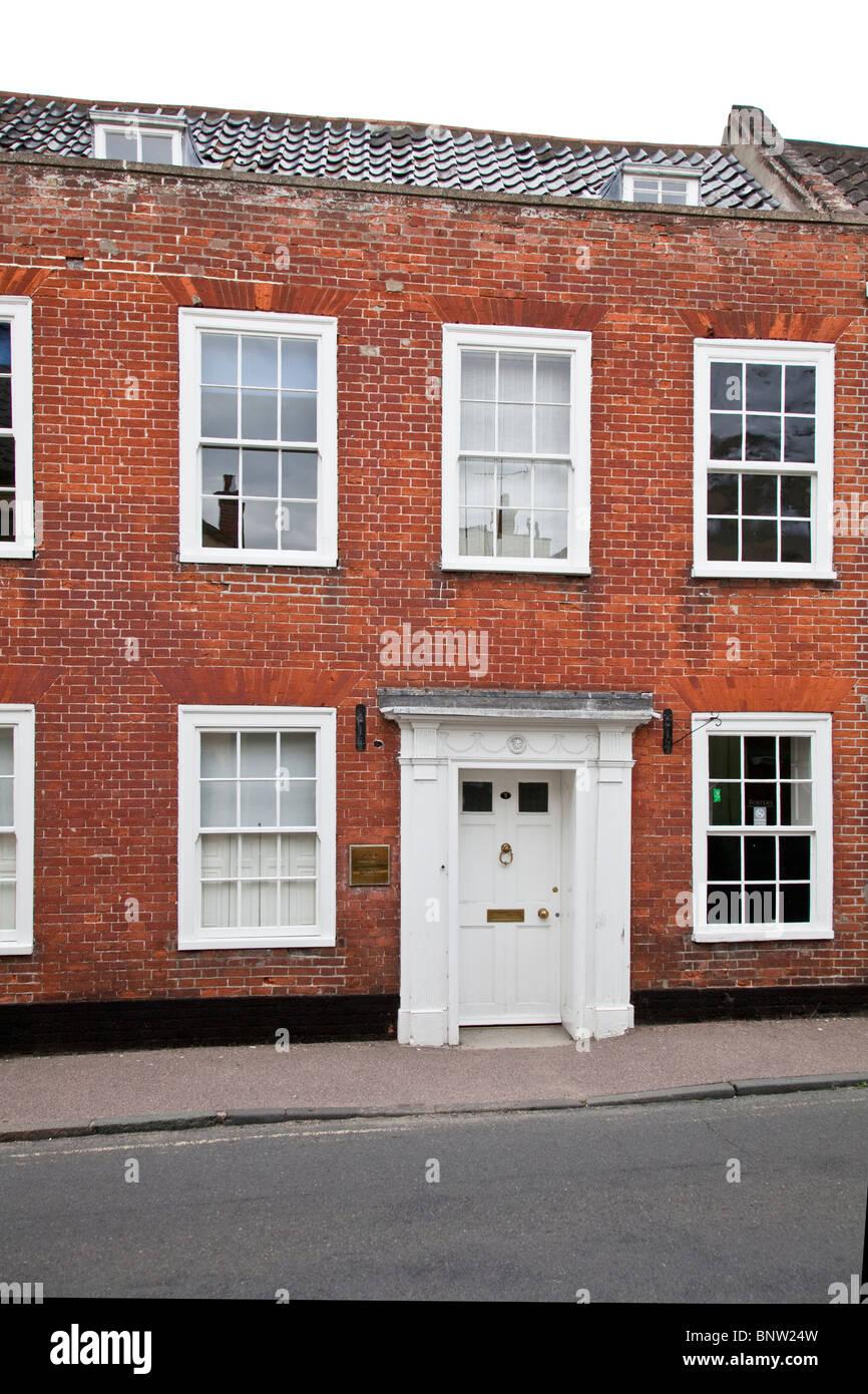 Georgian house frontage Bungay Suffolk - Stock Image
