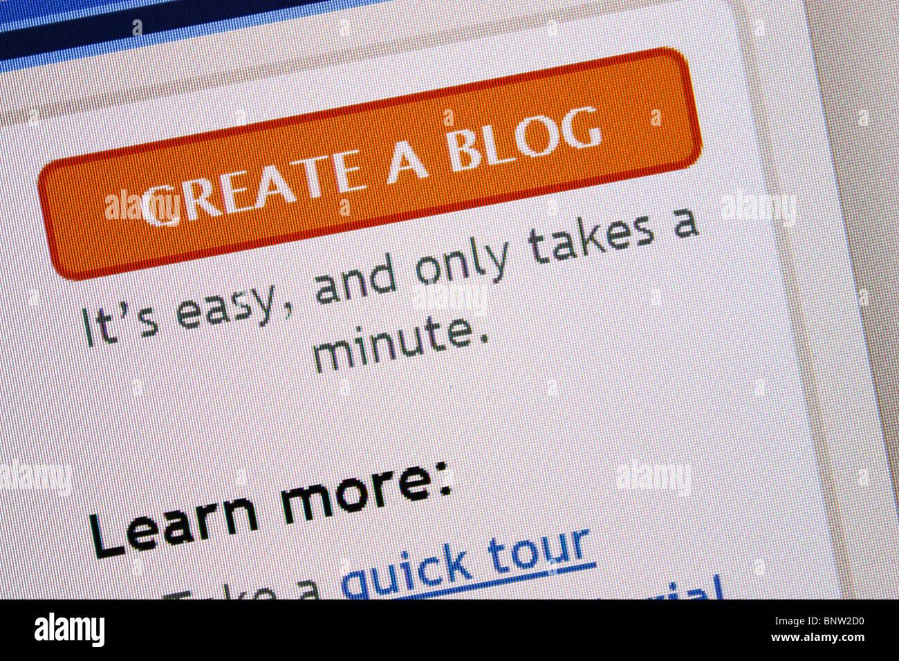 blogger create blog icon - Stock Image