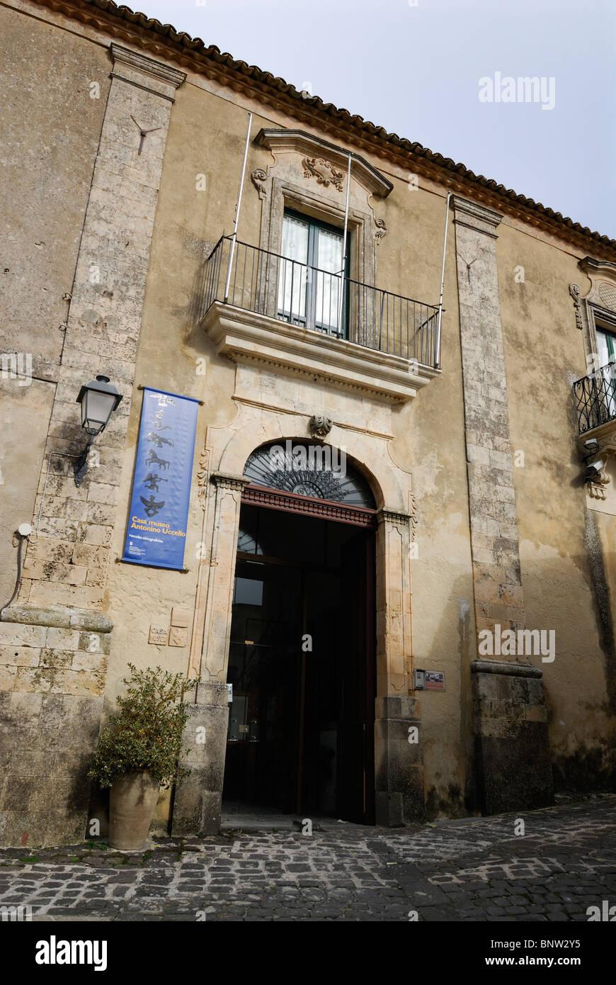 Palazzolo Acreide Sicily Italy La Casa Museo Antonino Uccello