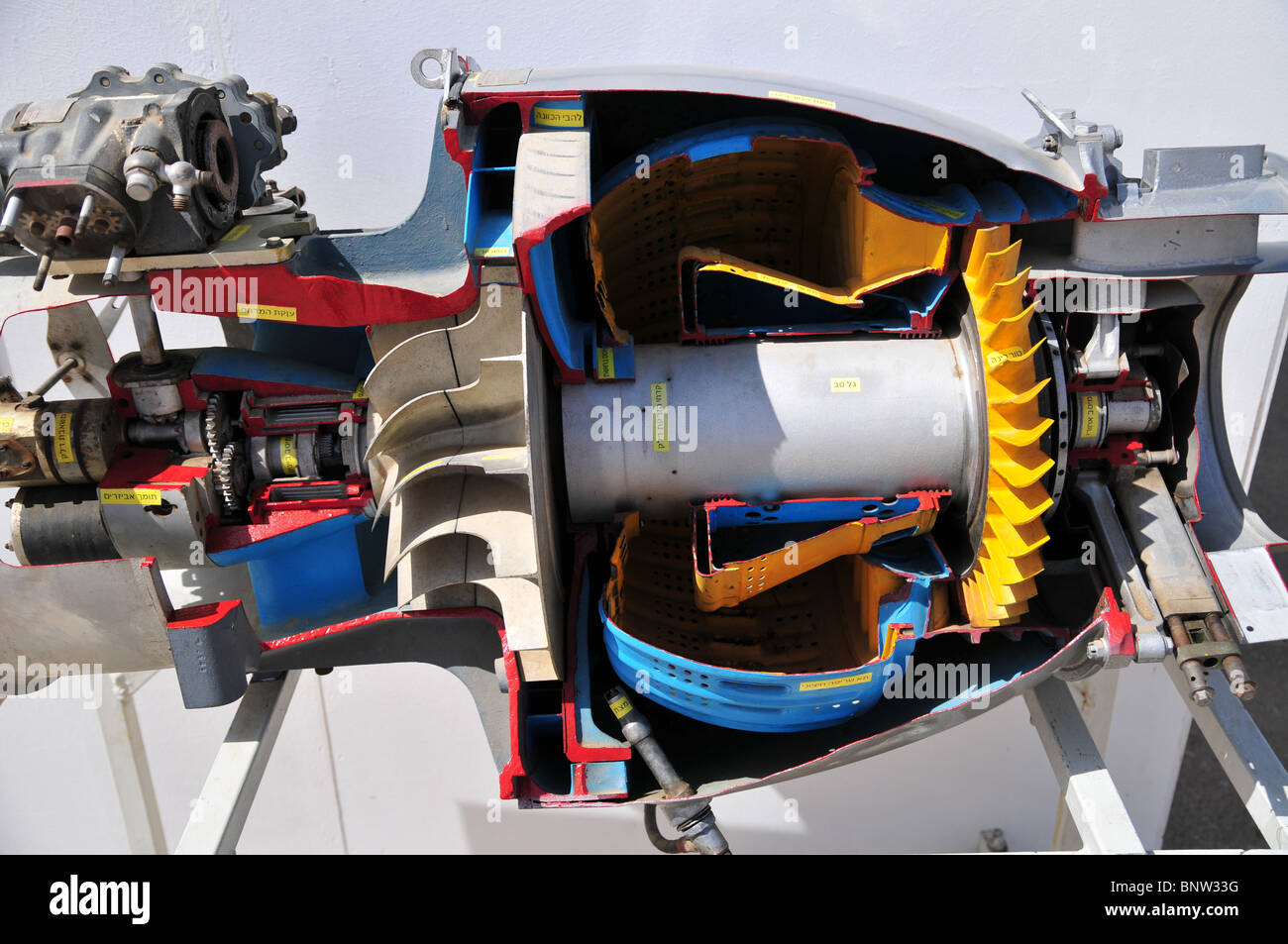Cross section of a jet engine stock photo 30669396 alamy for Sell em all motors
