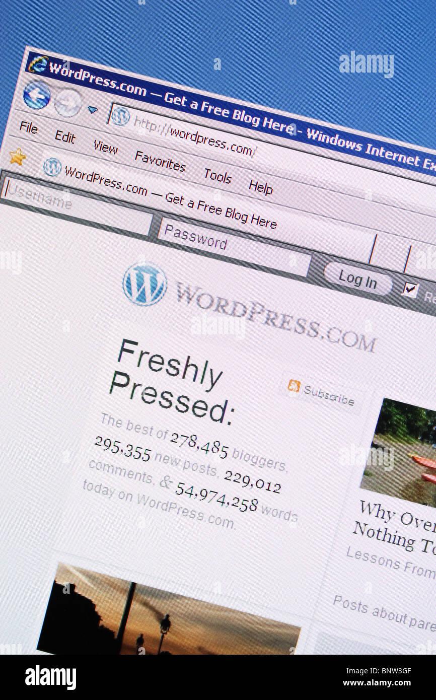wordpress blog platform - Stock Image