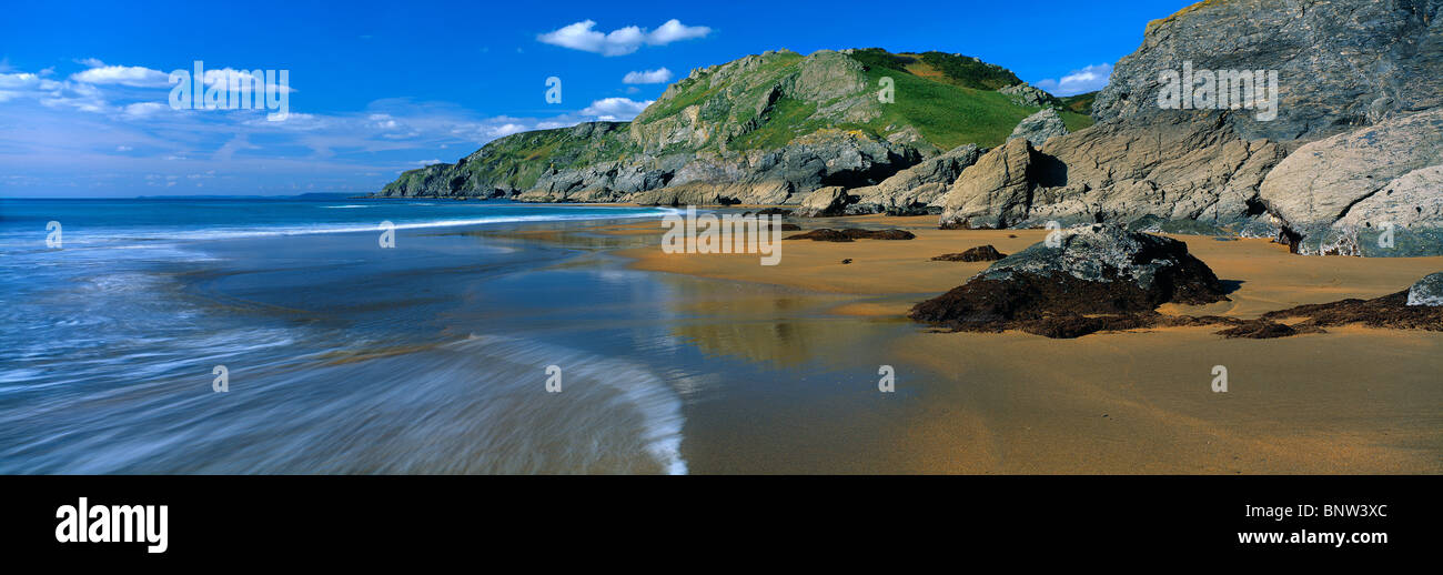 Soar Mill Cove in South Devon - Stock Image