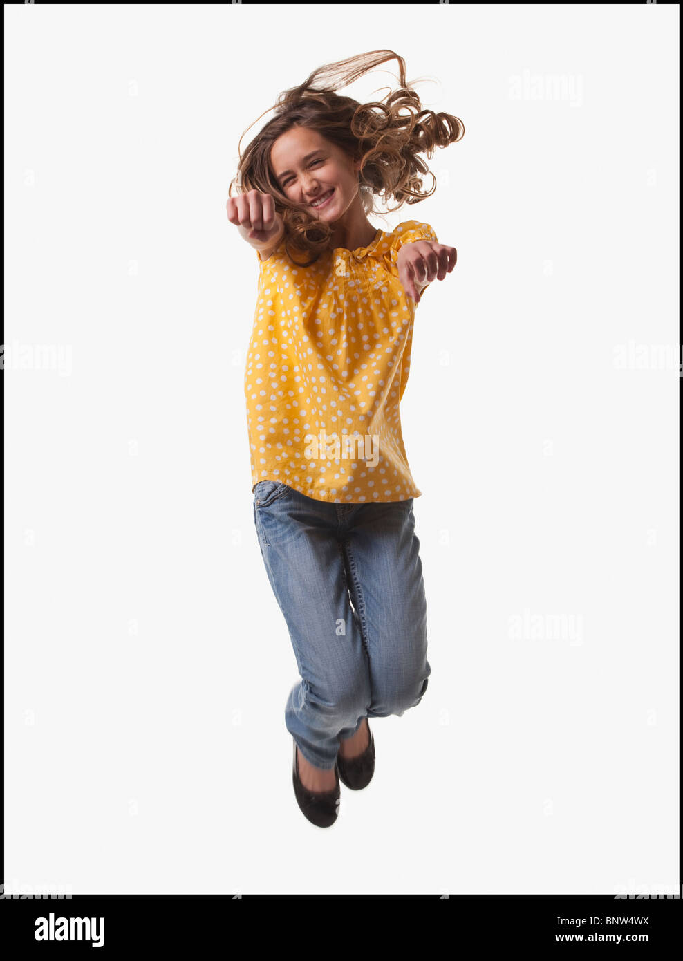 excited teenage girl jumping for joy stock photo 30670806 alamy