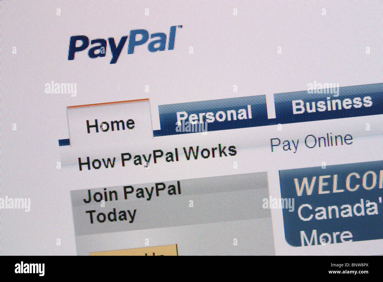 paypal online online money transfer - Stock Image