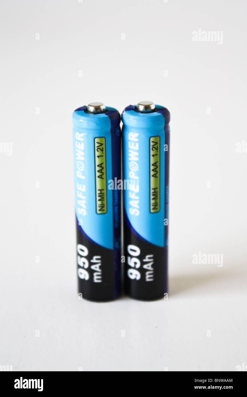 two 2 AAA recharge battery - Stock Image