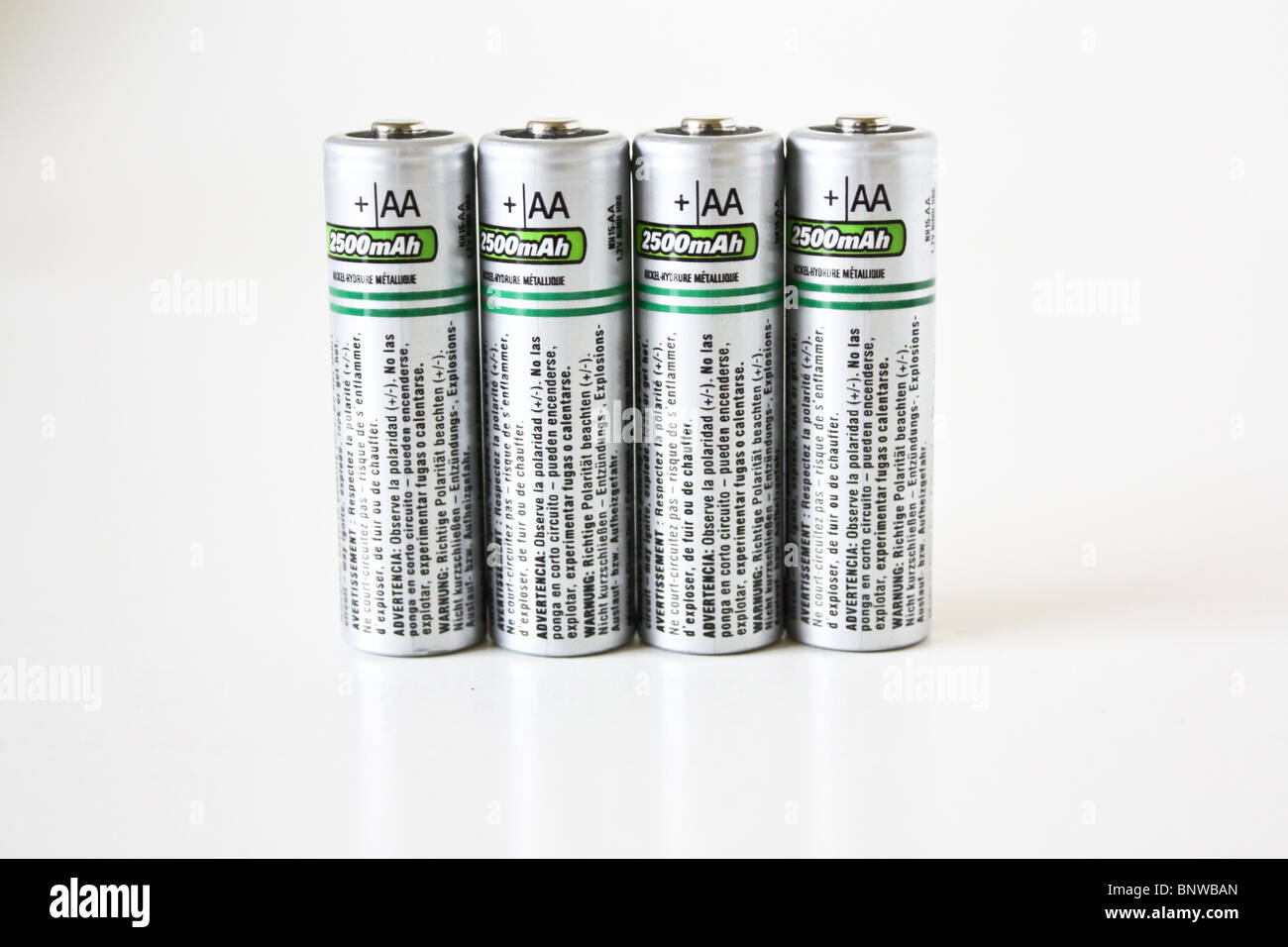 four 4 AA rechargeable battery lithium ion - Stock Image