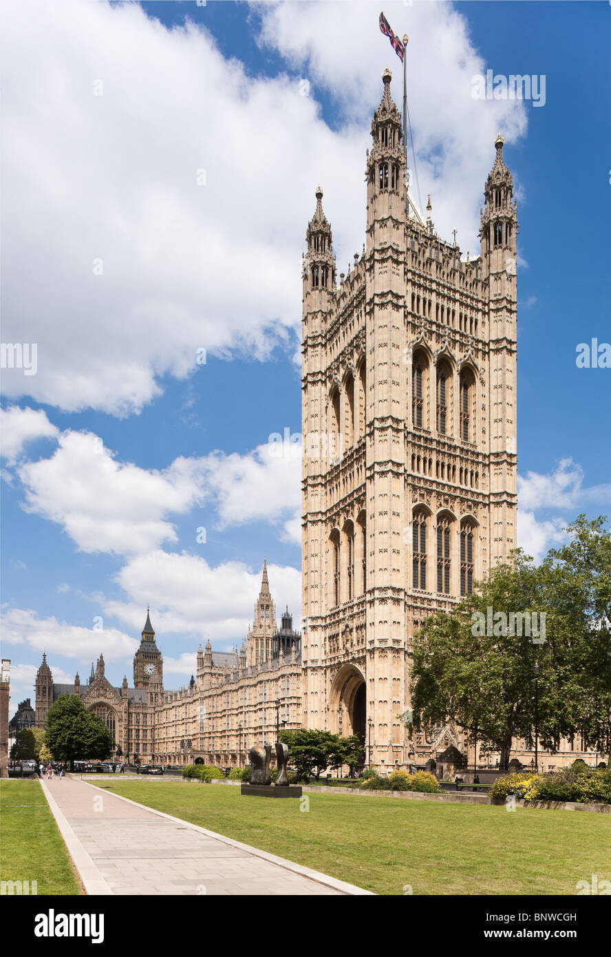 Houses of Parliament Palace of Westminster London - Stock Image