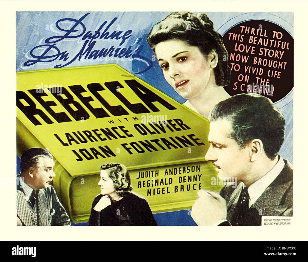US MOVIE POSTER REBECCA (1940) - Stock Image