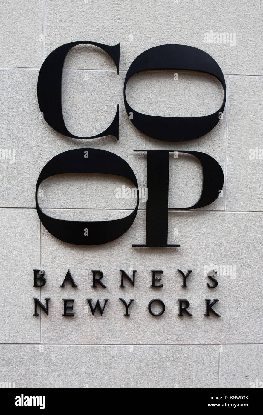 A Barney's New Yorck Co-Op retail store. - Stock Image