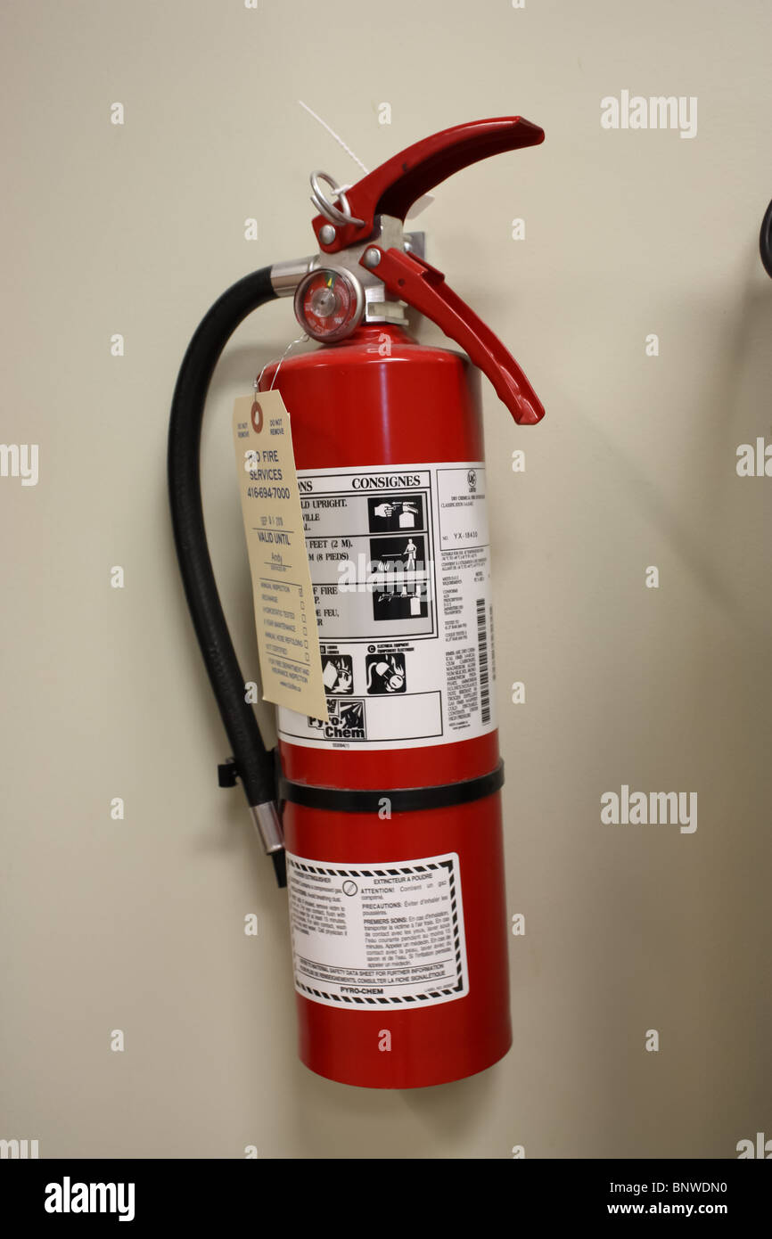 small home fire extinguisher - Stock Image