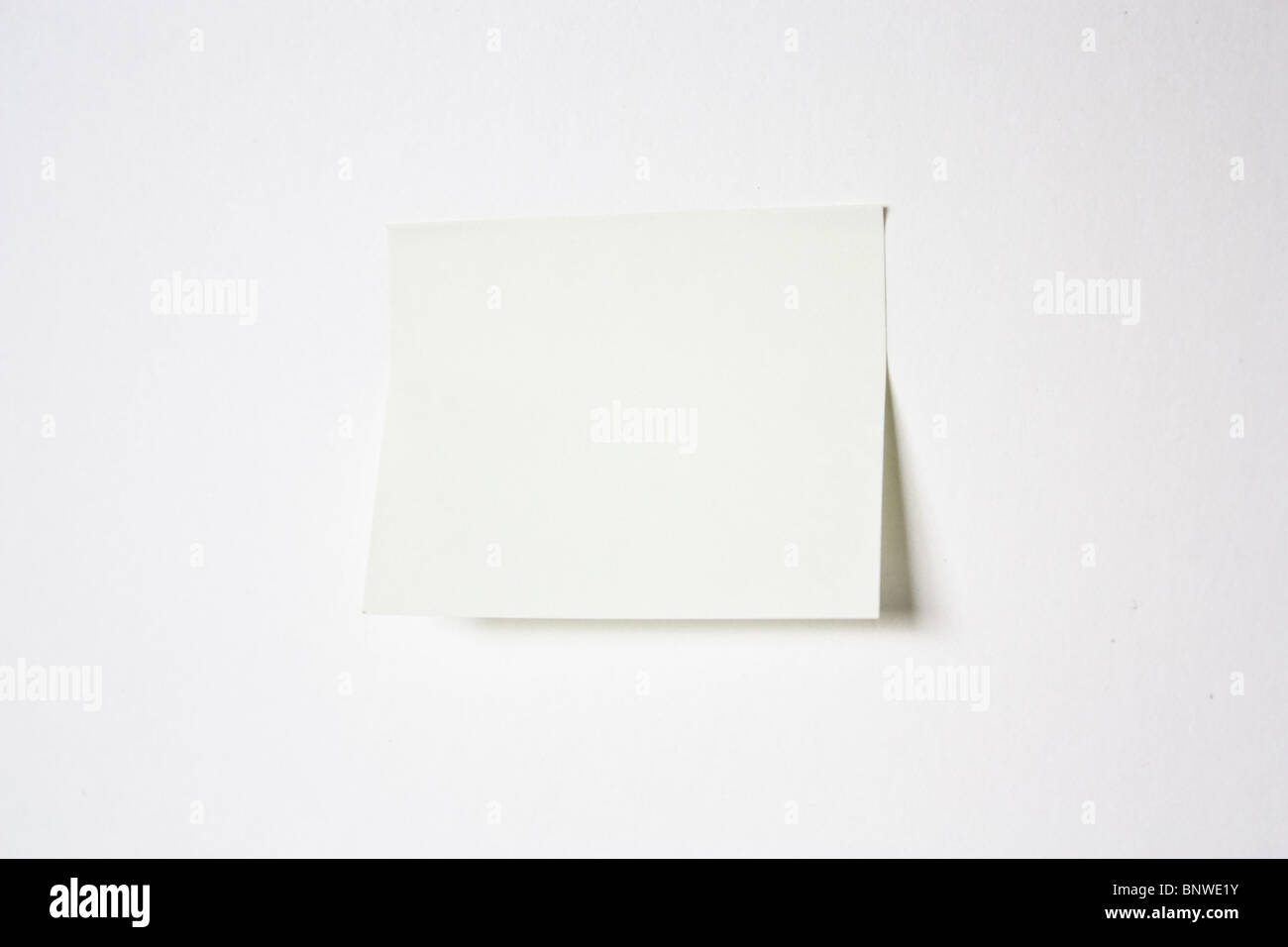 yellow postit post-it note memo - Stock Image