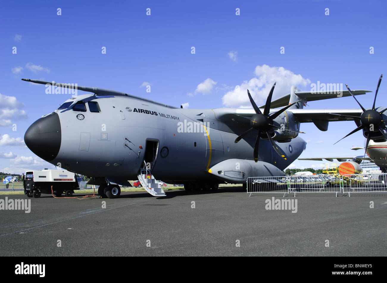 Airbus Military A400M second prototype, Grizzly 2, at Farnborough Airshow 2010 - Stock Image