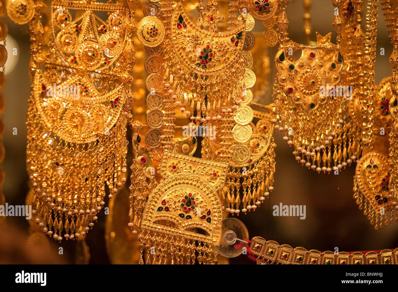 Gold Souk, Dubai, United Arab Emirates, Asia - Stock Image