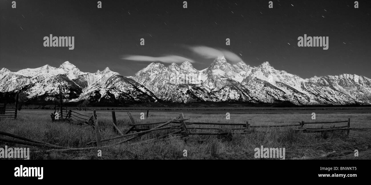grand teton tetons national park wyoming - Stock Image