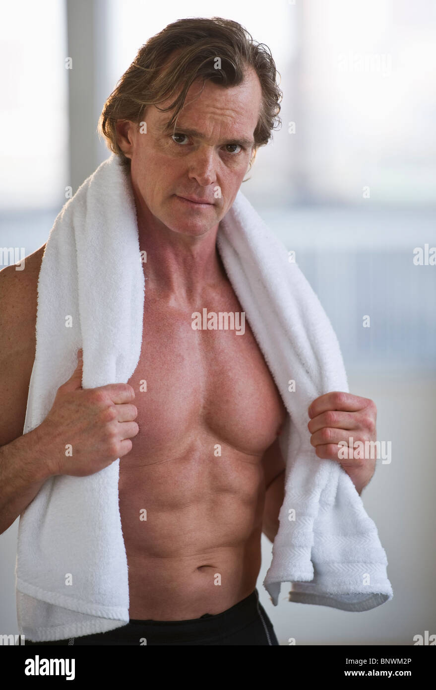 Mature men shirtless