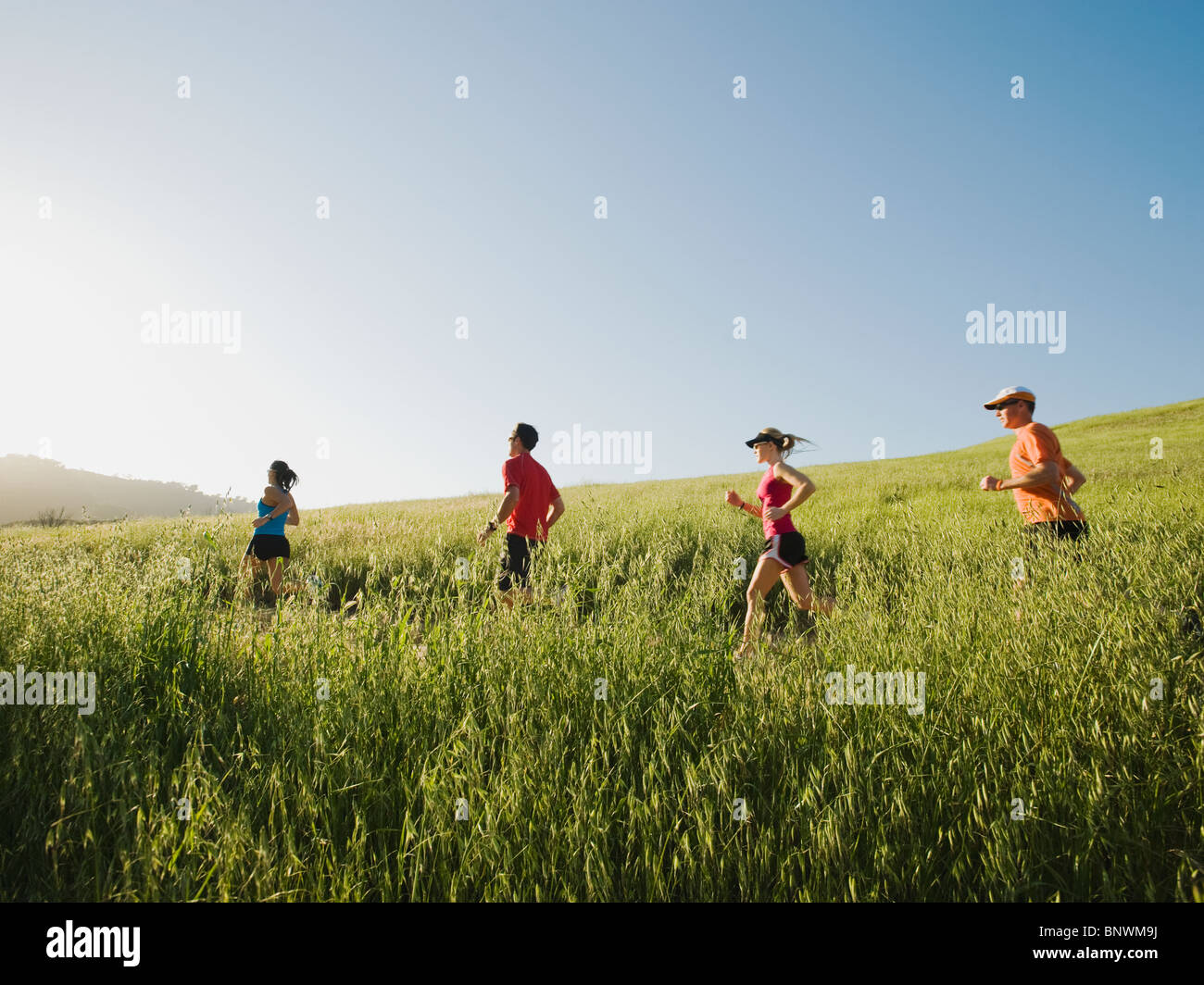 Trail running - Stock Image